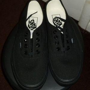 Black vans thick soles